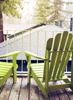 Luxury lovely green chairs and balcony decor balcony