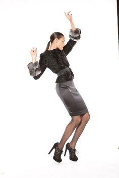 Sheared mink jacket with chinchilla cuffs Mink Jacket, Shearing, Chinchilla, Cuffs, Fall Winter, Ballet Skirt, Skirts, Jackets, Fashion