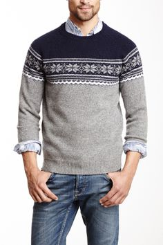 low priced 4c35e cd994 Snowflake Wool Sweater Pascale Lemay Lemay Lemay De Groof Knit Fashion,  Mens Fashion,
