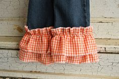 Jeanx removable pants cuffs Turn ordinary pants into by JeanxLLC, $14.95   Removable Pants Cuffs - turns ordinary pants into BOUTIQUE WEAR!!   TO PURCHASE: www.Etsy.com/shop/JeanxLLC.   Follow us on Twitter... @JeanxInc #Jeanx #RemovablePantsCuffs #ChildrensClothing