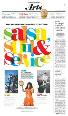 Beautiful typography. #Newspaper #Design #GraphicDesign
