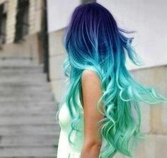 Mermaid hair!! Love it!