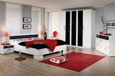 Polished Passion: 19 Dashing Bedrooms in Red and Gray!   Pinterest ...