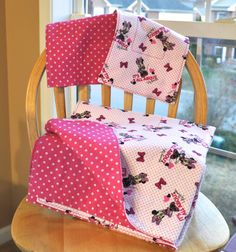Soft Reversible Flannel Baby Blanket With 2 Burp by OnMuskratCreek