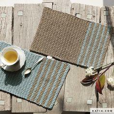 Crochet Mask, Crochet Motif, Knit Crochet, Crochet Placemat Patterns, Knitting Patterns, Crochet Kitchen, Crochet Home, Knitting Projects, Crochet Projects