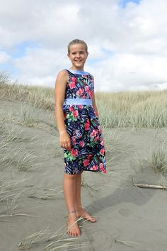 Juniper PDF Sewing Pattern- dress or shirt options for girls in size 2-14