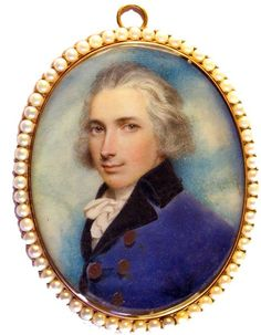A dashing portrait of General Foot by ANDREW PLIMER - Portrait Miniatures of Claudia Hill at Ellison Fine Art