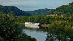 Die MS Modigliani aus Straßburg, ... benannt nach Amedeo Modigliani, einem italienischer Zeichner, Maler und Bildhauer, war dieser Tage mit ihren Passagieren zu Besuch in Merzig. Sie ist eines von 27 Schiffen der Prestigeklasse der Reederei CroisiEurope.:-)