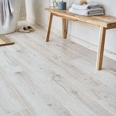 Bring a natural spa styled look into your home with these Light Oak Wood Effect Tiles. These porcelain planks can be used on any wall or floor. Light Grey Wood Floors, Grey Wood Tile, Wood Tiles, Wood Finish Tiles, Wood Floor Finishes, Wood Like Tile Flooring, Wood Effect Floor Tiles, Grey Tile Floors, Hardwood Floors
