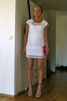 Hooked on crochet: Crochet white top / Blusa branca de crochê