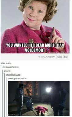 yes, thank God for Moffat.