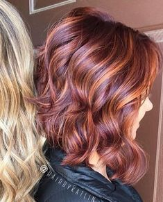 Hair color blue blonde red 29 new ideas Red Blonde Hair, Strawberry Blonde Hair, Hair Color Auburn, Hair Color Blue, Hair Colors, Pelo Color Caramelo, Cabelo Rose Gold, Red Hair With Highlights, Layered Hair