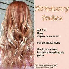Strawberry blonde feels like such a cute hair color to have, right? Strawberry blonde is a trendy hair color. Basically, strawberry blonde is A shade of ha New Hair, Your Hair, Blorange Hair, Blonde Hair With Bangs, Pale Blonde, Red Blonde Ombre Hair, Copper Blonde Hair, Golden Blonde, Blonde Color