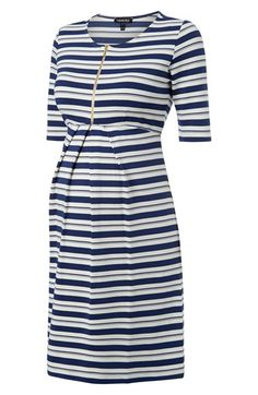 Isabella Oliver 'Beaumont' Stripe Maternity Dress