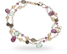 Zoccai ZGBR0365RRQFTO - 18 ct. red gold bracelet with 32.50 ct. of fume' quartz, tourmaline and 0.04 ct. of diamond $1240