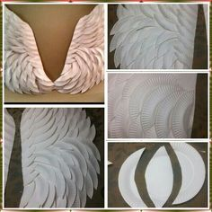 DIY, Amazing Paper plate Angel Wings