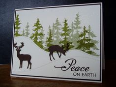TH: Tree Line stamp. In the Meadow: PTI, winter,  by Ink-Creatable WOH - Cards and Paper Crafts at Splitcoaststampers