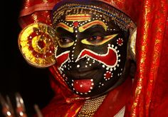 #Kathakali is an old school dance form which was prevalent in Kerala, India. It was a form of story telling through face painting and dance.
