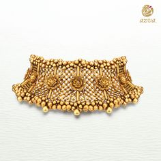 Cocktails on the rooftop tonight? Add this glamorous gold choker with intricate beads and sculptural florals to a diaphanous dress for the perfect late night statement. #goldjewellery #showstopper #bridalstyle #goldchokers #saturdayswag #cocktailtime #azvavows