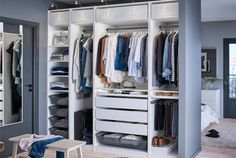 IKEA PAX wardrobe combinations without doors