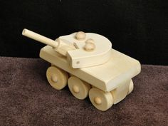 Wooden handmade Military Tank from Etsy.