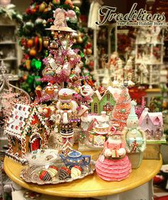 Vintage style Christmas decorations.