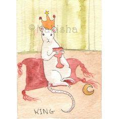 TaRat  The Rat Tarot  Original Art  the King of by bluedogrose, $13.00