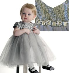 Biscotti Snow Princess Ballerina Dress. Infant - 6x. Your little ballerina will feel just like a princess when she wears this shimmery silver dress encrusted with sparkling jewels and pearls. www.biscottiandkatemack.com