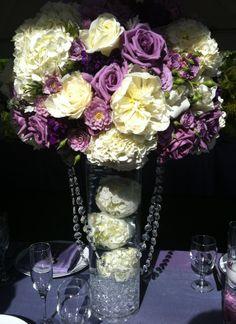 My sister-in-law's purple wedding centerpiece.