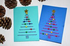 Weihnachtskarten basteln mit Kleinkindern und Kindern