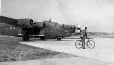 "B-24 ""BAD PENNY"" Crash landed 12-Sep-44 Manston, Kent, England, while on a non-operational flight"