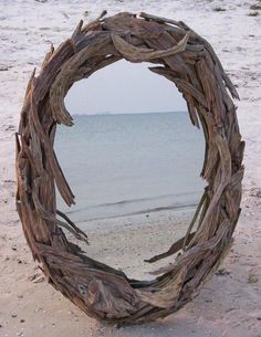 The driftwood mirror gallery is here! Any size and shape in driftwood mirror art.