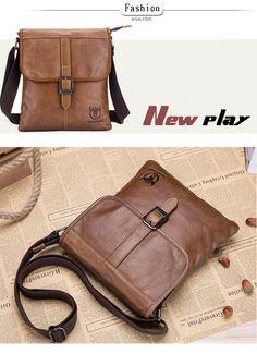 33b3863d5c69 BULL CAPTAIN 2017 Men Bag Genuine Leather Man New Crossbody Shoulder Bag  Men Small Business Bags Male Messenger Leather Bags 034