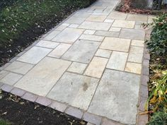 Tudor Antique flagstones creating a traditional look Garden Paving, English Country Gardens, Flagstone, Bespoke Design, Traditional Looks, Tudor, Garden Design, Sidewalk, Patio