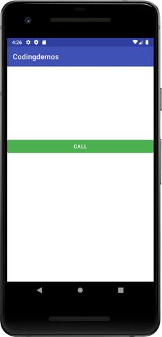 Android Call Intent - Make Phone Call With Button Click - Coding Demos Button Click, Android Tutorials, Coding, Buttons, Phone, How To Make, Telephone, Mobile Phones, Programming