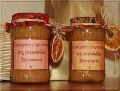 Narancsos almalekvár Gourmet Gifts, Meals In A Jar, Chutney, Candle Jars, Jelly, Spices, Cooking Recipes, Canning, Sweet