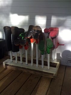 DIY boot drying rack