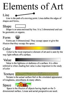 Elements Of Art Poster Small But Free Art Clin 2019 Elements Of Art Art Principles Of Art