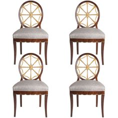 Set Of 4 Swedish Art Deco Chairs Designed By Otto Schulz Circa 1920.   From a unique collection of antique and modern dining room chairs at http://www.1stdibs.com/furniture/seating/dining-room-chairs/