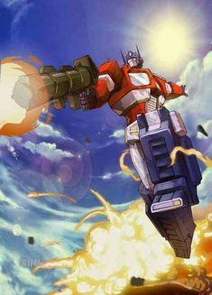 One of Prime's most iconic images Gi Joe, Samurai, Transformers Optimus Prime, Transformers Characters, Transformers Collection, Classic Cartoons, Cartoon Art, Comic Art, Anime