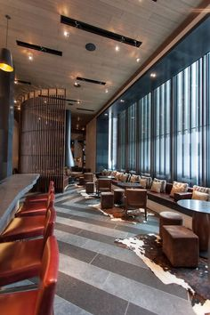 The Chedi is a work of Denniston Architects and a luxurious hotel with residences that was inaugurated last December in Andermatt, Swiss city located under Lounge Design, Bar Lounge, Lobby Lounge, Workspace Design, Office Interior Design, Hotel Interiors, Office Interiors, Lobby Design, Lobbies