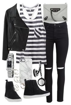 """""""Untitled #18608"""" by florencia95 ❤ liked on Polyvore featuring Balenciaga, H&M, Uncommon, Acne Studios, Friis & Company, Frends, Burberry, Forever 21 and apopofluxury"""