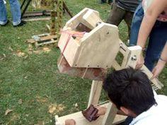 Catapulta tipo trabuquete Física mecánica U.Libre Socorro