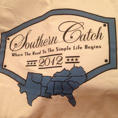 Back design of Southern Catch's first t-shirt! Click the picture to go follow Southern Catch on Twitter!
