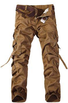 TDOLAH Herren Cargo-Hose Jeans Armee Camo: Amazon.de: Bekleidung