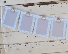 Teddy Bear 12 Month Photo Banner Chevron by CardsandMoorebyTerri, $30.00