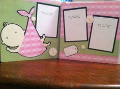 Baby Girl Pre Made 12 x 12 Pre Made Double by aSavvyScrapbooker, $12.00
