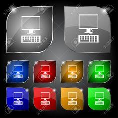 Monitor De La Computadora Y El Icono De Teclado. Definición De Botones De Colores. Ilustración Vectorial Ilustraciones Vectoriales, Clip Art Vectorizado Libre De Derechos. Pic 31698369. Nintendo Games, Monitor, Computers, Keyboard, Filing Cabinets, Buttons, Icons, Blue Prints