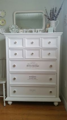 Dressing up an old dresser Old Dressers, Dressing, Antiques, Projects, Furniture, Home Decor, Antique Cabinets, Log Projects, Homemade Home Decor