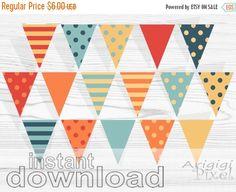 50 % OFF  SALE Autumn Printable Banner Polka Dot by ArigigiPixel